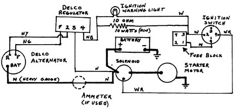 diagram delco r terminal alternator diagram free engine