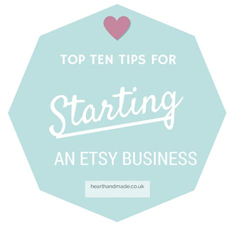 Starting An Etsy Business Top 10 Tips For Starting An Etsy Business Handmade