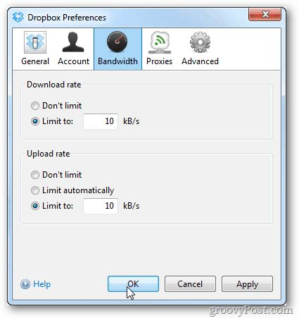 dropbox upload speed limit dropbox download upload speed to save on bandwidth
