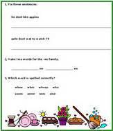daily language review worksheets for 1st grade spelling