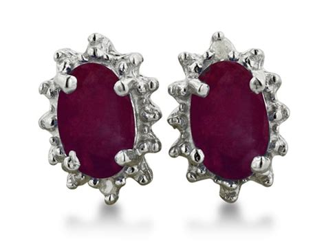 Ruby 4 1ct 1ct ruby and earrings in sterling silver