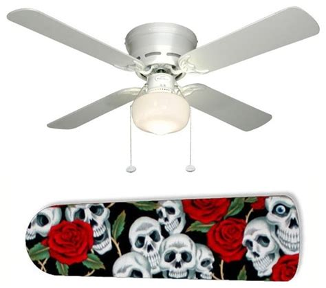 Skull Ceiling Fan by Skulls And Roses 42 Quot Ceiling Fan And L