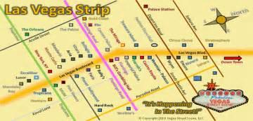 Strip Map Las Vegas by Las Vegas Strip Map Vegas Street Scene