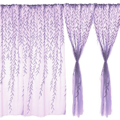 decorative sheer curtains home decorative purple leaves sheer voile window panel