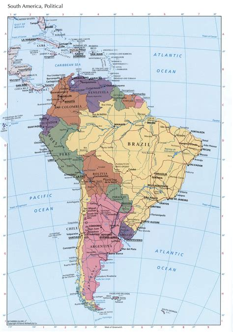 political map of south america free printable maps south america political mapfree maps of north america
