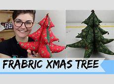 DIY: Fabric Xmas Tree - YouTube Xmas Ornaments To Make