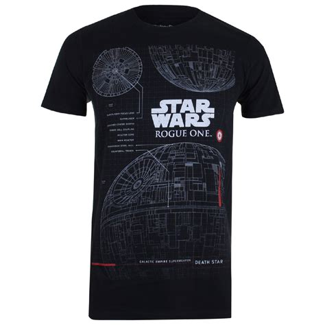 cgv star wars merchandise star wars rogue one men s death star plans t shirt black
