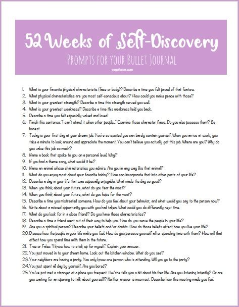 printable journal prompts 52 weeks of self discovery prompts for your bullet journal