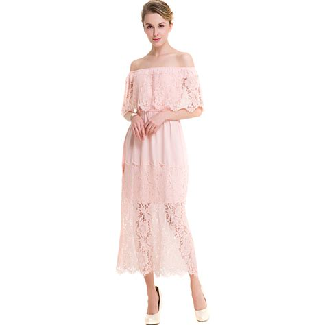 new quality black pink lace dress plus size summer dresses ankle length gowns