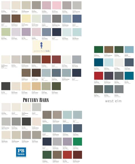paint colors pottery barn sherwin williams fall winter 2013 palettes for pottery