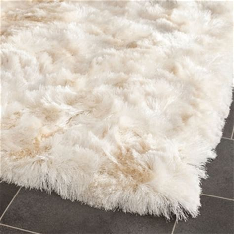 types of shag rugs safavieh silken ivory shag rug 5 square