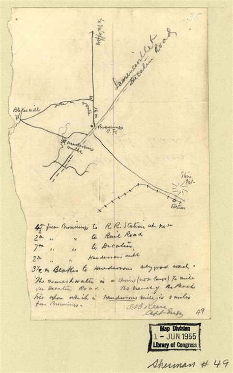 Dekalb County Ga Civil Search File Map Browning Court House And Environs 1864 Dekalb County Jpg