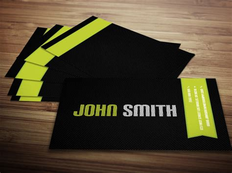 Carbon Fiber Business Card Template by 50 Free Psd Business Card Templates Pixelsmarket