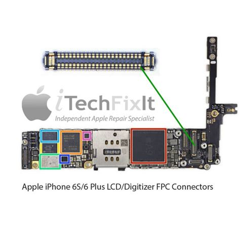 fpc lcd connectorsocket iphone  repair service itechfixit