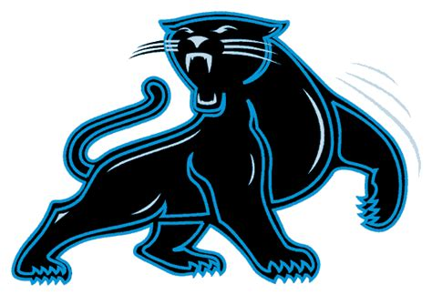 panthers football colors carolina panthers alternate logo 1995 a black panther