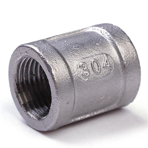 Threaded Coupling 1 14 1 2 inch 304 stainless steel threaded coupling pipe fitting npt us 1 99 sold out