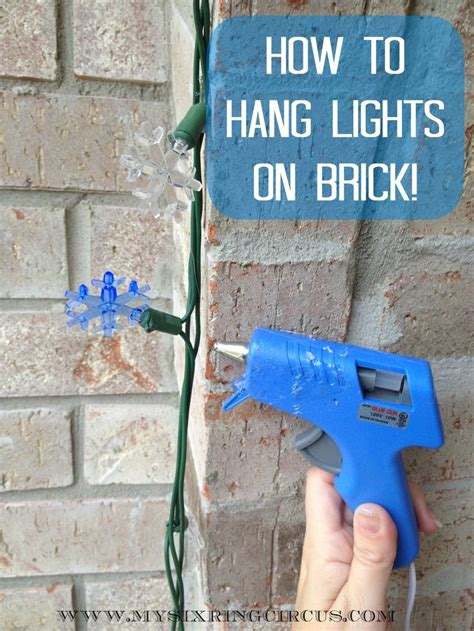 how to hang lights on brick in three easy steps this will