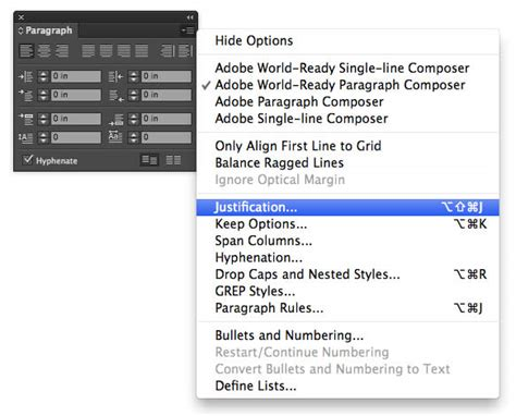 Indesign Justification Letter Spacing Article Justified Text