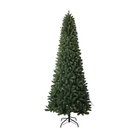 9 ft pvc slim artificial christmas tree with ul lights