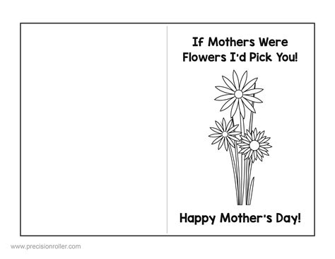 mothers day card  questionnaire precision printables