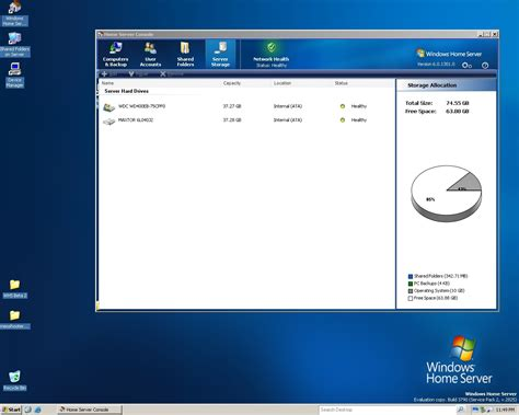 windows home server beta screenshots neowin