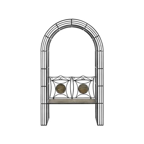 bench arch antique brown garden arch bench with arbour