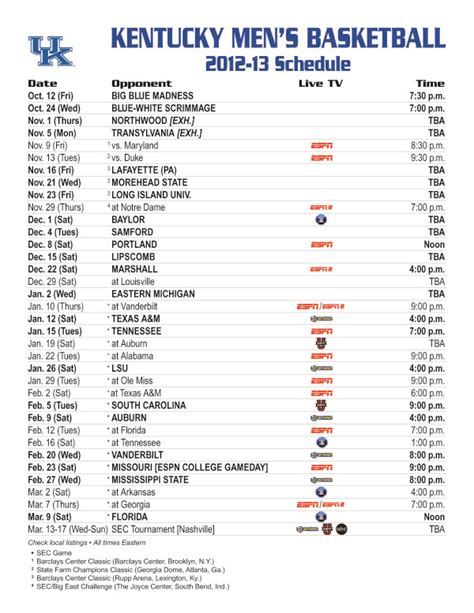 uk basketball schedule download kentucky wildcat basketball first look at the complete