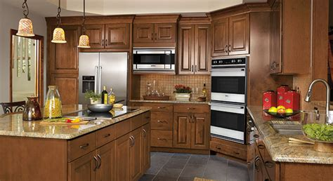 rustic birch kitchen cabinets kitchen makeover adds plenty of storage masterbrand