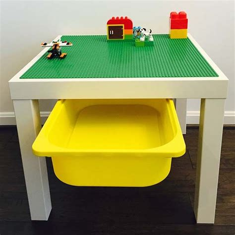 lego table with storage the handmade lego table with storage bin unleashes your