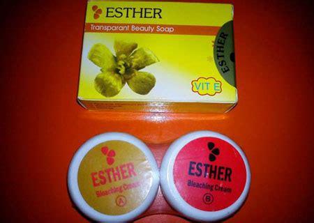 Bedak Ester esther whitening dan bleaching gendis