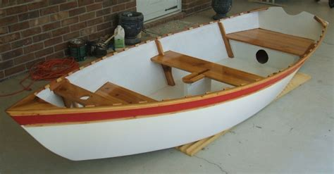 nesting dory boat semi dory 11 sd11 flat bottom dory type dinghy oars