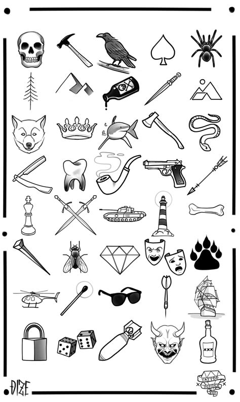 tattoo flash for men 80 free small designs insider