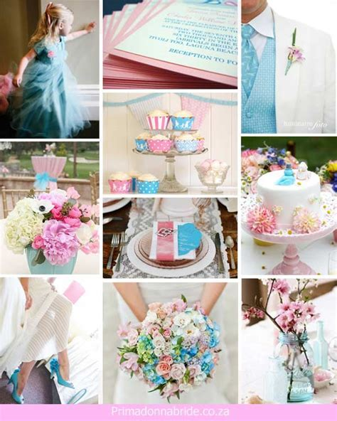Wedding colours: Pink and Aqua   Primadonna Bride