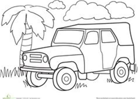 safari jeep coloring page safari jeep craft picture frames 1st day craft safari
