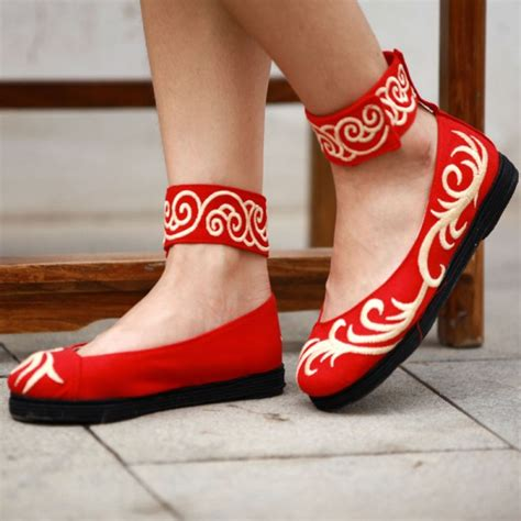china flats shoes zuyun china ethnic embroidered cloth flat shoes
