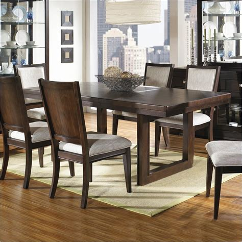 Casual Dining Room Table Sets Shadow Ridge Modern Rectangular Casual Dining Table In Chocolate Finish Casual Kitchen Dining