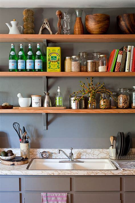 open shelves in kitchen 50 fabulous shabby chic kitchens that bowl you