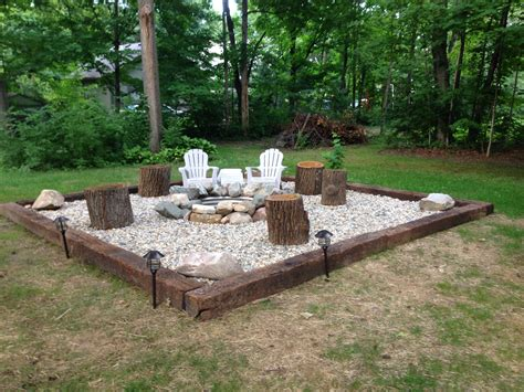 Backyard With Firepit Inspiration For Backyard Pit Designs Pit Area Ring And Rivers