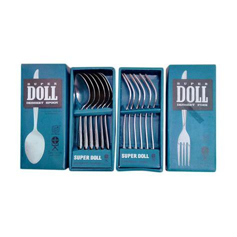 Stainless Steel Sendok Teh Dan Garpu Kue jual doll stainless sendok dan garpu set 12 pcs harga kualitas terjamin