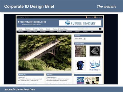 design brief ppt presentation corporate id design brief penneylaneonline