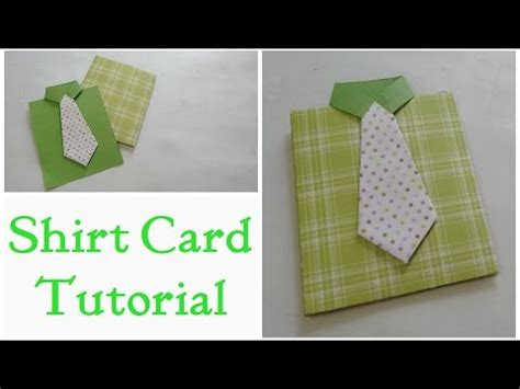 tutorial carding father s day card shirt card tutorial by srushti patil