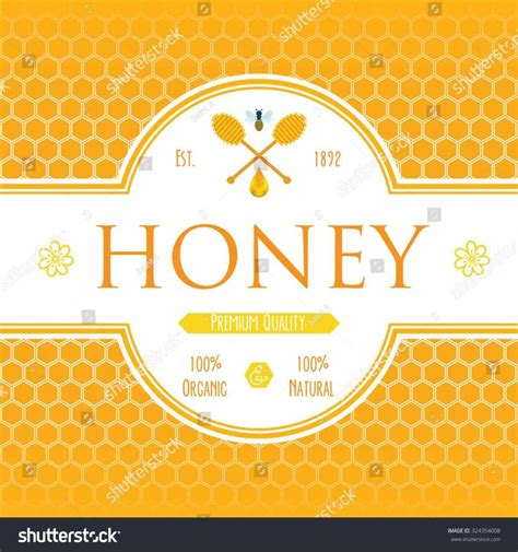 art bee printables everyday honey bottle labels template