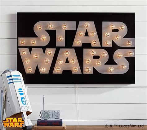 Star wars marquee wall art pottery barn kids