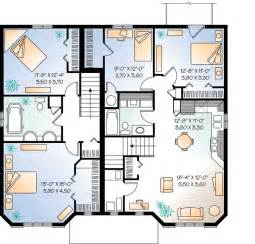 In Apartment House Plans Plan W21428dr Three Unit Apartment House Plan E