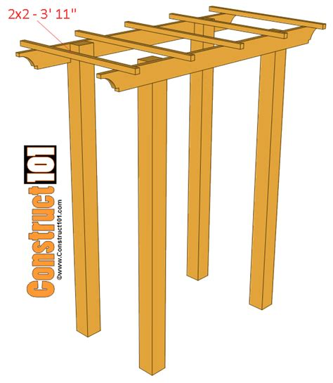 arbor bench plans garden arbor bench plans construct101