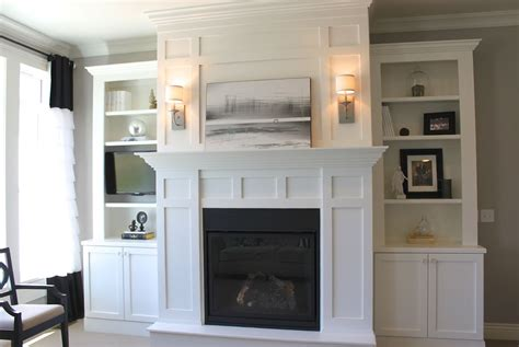 cabinets around fireplace design white built in cabinets around fireplace great room