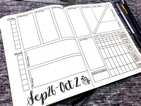 layout journal download bullet journal weekly layout september 26 october 2
