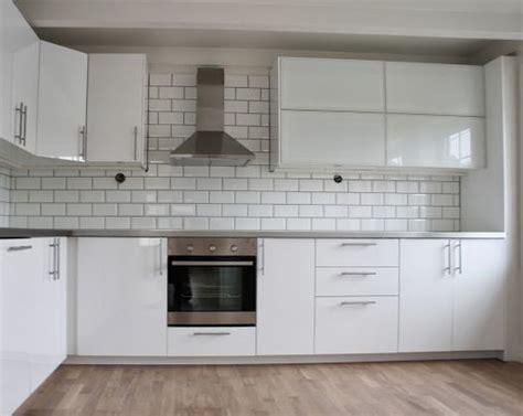 ikea white gloss kitchen cabinets ikea ringhult kitchen in gloss white island ideas