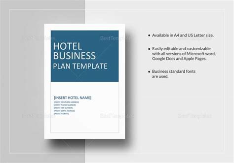 12 Sle Hotel Business Plan Templates To Download Sle Templates Hospitality Business Plan Template