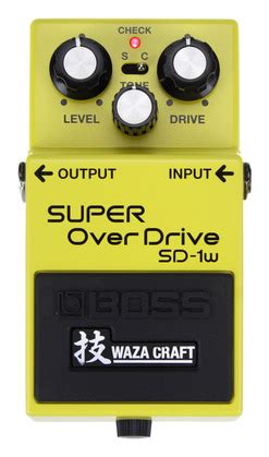 Sd1w waza craft sd1w overdrive rainbow guitars